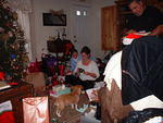 Momma opening presents